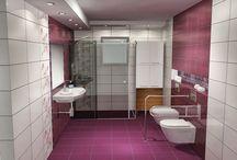Σύνθεση μπάνιου LOGICA / Σύνθεση μπάνιου βασισμένη στα πλακάκια της σειράς LOGICA με διάσταση 25x50.