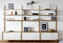 Shelf systems by Tapio Anttila / Different combinations of LINK shelf system design by Tapio Anttila.