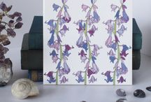 Botanical and Floral Tiles / Botanical and Floral ceramic tiles from Jacqueline Talbot Designs