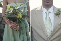 Gray + Sage - Soft Winter Wedding / Soft and romantic wedding colors perfect for winter.