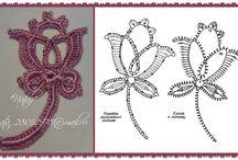 Вязание крючком. / Элементы кружева, МК, изделия в стиле ирландского кружева,