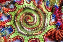 Freeform crocheting