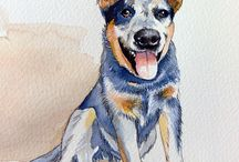 Ink portraits of pets