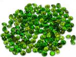 2.5mm Round Chrome Diopside Loose Gemstone Top Quality Green Color Gemstone
