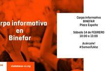 Carpas Informativas C's Binefar / Ciudadanos Binefar, agrupación de C's Aragón quiere acercarse a la ciudadanía a pie de calle, conocer sus inquietudes y sus reivindicaciones. Carpas Informativas y mesas informativas de nuestros proyectos para los ciudadanos