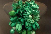 Silk Cocoon Necklace / Silk Cocoon Necklace made by hand
