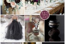 Plum and silver / platinum wedding theme