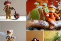felted fairies and gnomes / to make mobiles