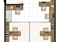 layout do escritório