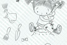 """Here's The Dirt / Projects and Creations using the """"Here's the Dirt"""" rubber stamp set"""