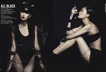 All Black | Gun Magazine / Photoshooting Gun Magazine | All Black  Make-Up: Chiara Corsaletti | Making Beauty Photo: Erica Fava Model: Fan @Ice Models