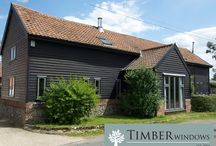 Suffolk Barn Conversion / Barn Conversion with casement windows and front door from Timber Windows.