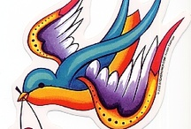 Vintage tatoos / Bilder på tatueringar att täcka min arm med. Tänk 50 tal, vintage, rockabilly och hårdrock!