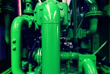 """""""Piping Design"""" / The beauty, symmetry, dynamics, and macho charm of well-designed piping systems."""