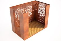 modern garden buildings laser cut metal