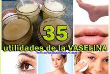 35 UTILIDADES DE LA VASELINA / Listado con 35 curiosos usos de la vaselina que no habías imaginado.