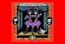 """Evelyn Evelyn / Evelyn Evelyn are a musical duo formed by Amanda Palmer (of The Dresden Dolls) and Jason Webley. According to the fictional backstory described by Palmer and Webley, the duo consists of conjoined twin sisters (aka """"Eva"""" and """"Lyn""""), Evelyn and Evelyn Neville, who were discovered in 2007 by Palmer and Webley. The twins are actually portrayed by Palmer and Webley, dressed in connected garments."""