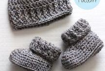 Crochet baby boots and beanie