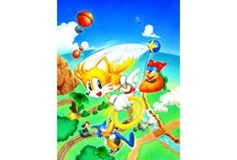 Tails Sky Patrol / Official artwork from Tails Sky Patrol on Sega Game Gear includes images of Tails and the games logo.  More info on this game at http://sonicscene.net/tails-sky-patrol