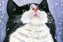 Cats in Winter 2 / ART