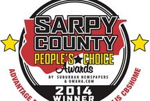 Best of Sarpy County! / Thank you for voting us the #1 home builder in the 2014 Best of Sarpy County Peoples Choice Awards! We are honored to be selected as this years winner! We pride ourselves on developing personal relationships with clients and helping them every step of the home building process. It is always rewarding to find out that our clientele appreciates the time and effort we have taken to make our business the best it can be and that they are loving the homes we designed and built for them!