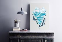 Art prints. Nordic home