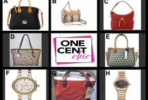 CHIC DESIGNER ITEMS  FOR CHIC SEEKERS / Designer Watches and Bags at 10 PM ET following Bid Auction @OheCentChic