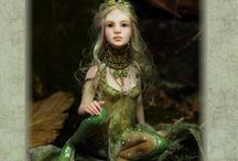 Hand-sculpted art dolls