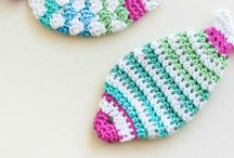 Crocheted dishcloth / Fishes
