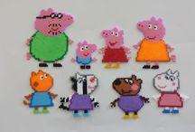 Hama Peppa Pig Perler Beads