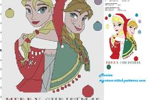 Cartoons - Frozen, Cross Stitch Freebies