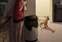 vivir sola ilustraciones