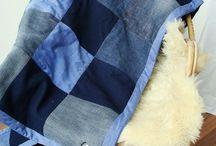 Quilt deken van oude kleding