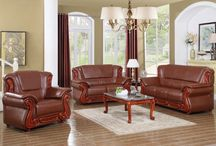 Bella Living Room Set - Traditional / Meridian Furniture - The Bella living room collection is an exquisite example of traditional design. Your living room will be the highlight of your home with elegance from the hand carved designs to the custom upholstery. Also available in Black, Burgundy, Cognac, and Khaki.
