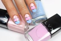 Tri-color Nail Art Designs / Keep your next manicure savvy with these chic tri-color nail art ideas!