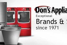 Dons Service Department  / Don Hillebrand started Don's Appliance Sales & Service in 1971 with service as its lead building block. We have been rated a Top 100 Servicer . We are a factory authorized servicer for over 25 brands and are the region's leading servicer, Originally Don's Appliances only serviced what we sold, but now we will service any appliance. All of these factors contribute to the continuing growth of Don's Appliances Service Department.