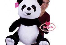 Peluş Oyuncak Büyük Boy Panda 75 cm Üfiş toys
