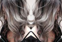 silver streaks in hair