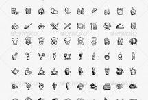 Foods & drinks - Hand Icons