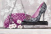 Shoes decoupage