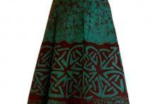 Batik Skirts & Trousers / Colourful hand made batik skirts.