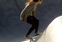 Concrete surf, longboarding
