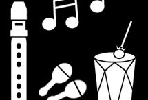 school pictogrammen / Picto muziekinstrumenten