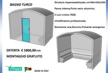 BAGNO TURCO OFFERTA / BAGNO TURCO OFFERTA € 5800,00+IVA MONTAGGIO GRATUITO  Struttura impermeabilizzata cm140x120x230h Panca interna,Porta vetro alluminio, 2 Luci cromo RGB, Umidificatore professionale, Estrazione aria,Doccino,Pulsante emergenza Effimera Made in Italy