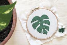 bordados plantas