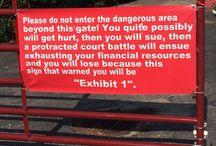 trespassing signs