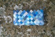 bolsos de papel trenzado