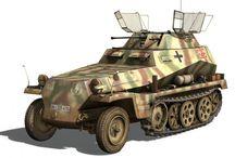 WW2 - SDKFZ 250/9 / Sd.Kfz. 250/9– półgąsienicowy opancerzony samochód rozpoznawczy, z działkiem 20 mm w obrotowej wieży.