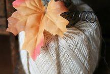 DECOR : Pumpkins / A collection of DIY pumpkins and decorating ideas using pumpkins.