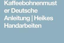 Strickmuster Kaffeebohne